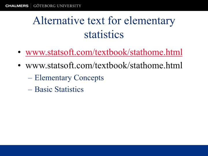 PPT - Alternative text for elementary statistics PowerPoint