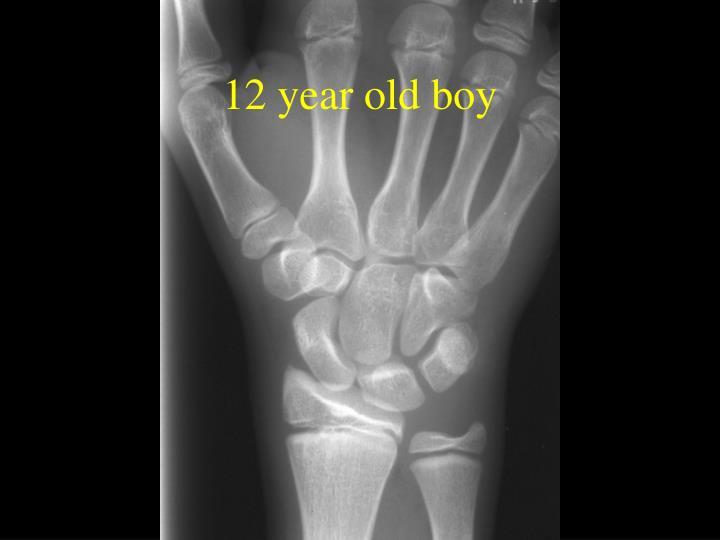 12 year old boy