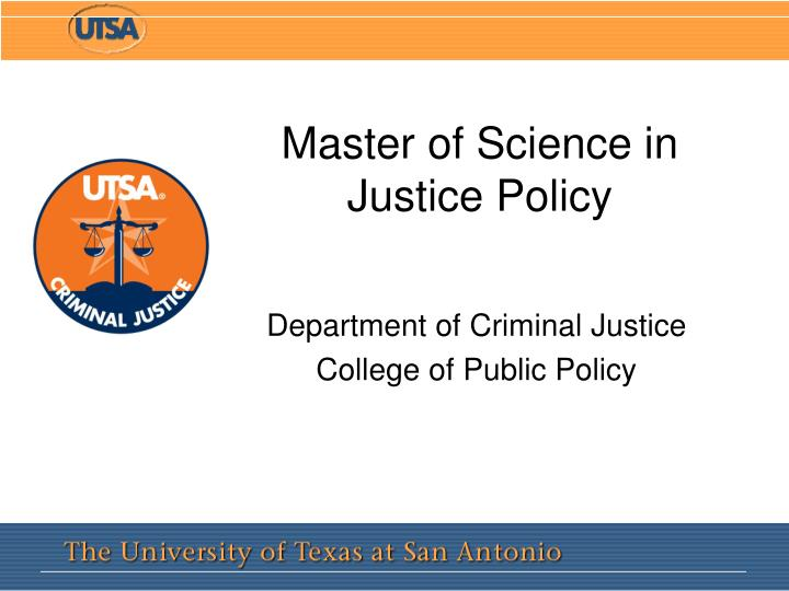 master of science in justice policy n.