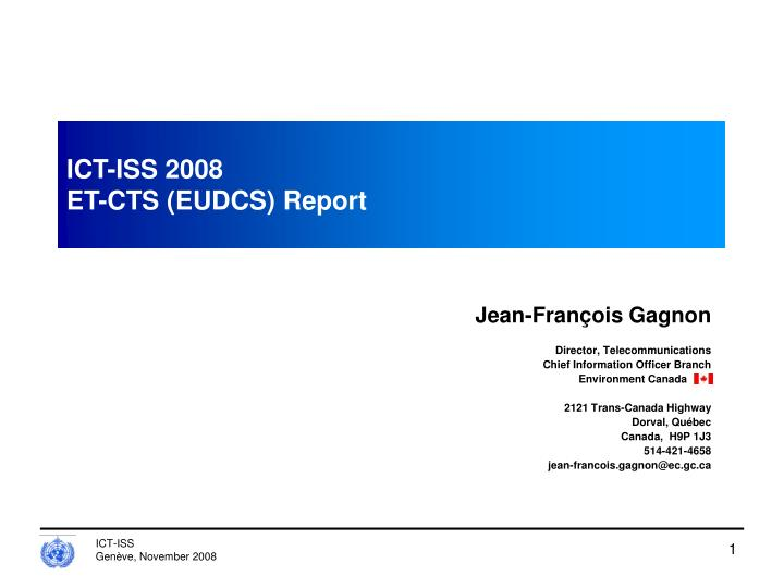 ict iss 2008 et cts eudcs report n.