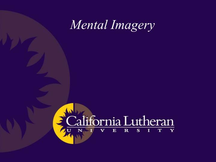 PPT - Mental Imagery PowerPoint Presentation - ID:1828143