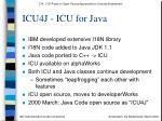 icu4j icu for java