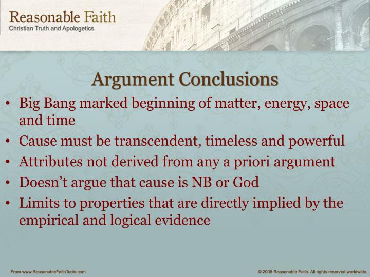 Argument Conclusions