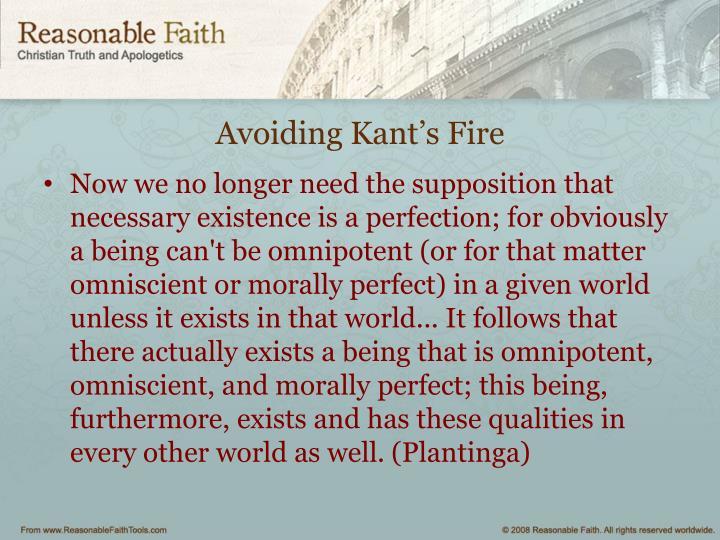 Avoiding Kant's