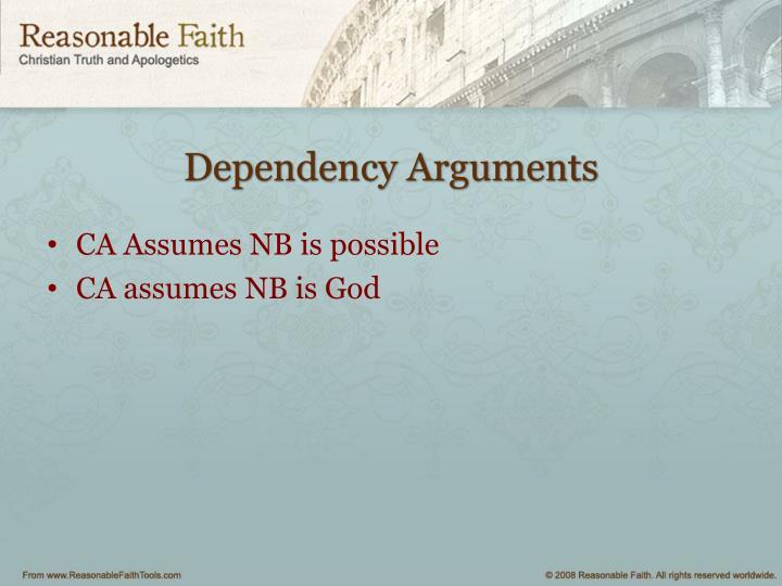 Dependency Arguments
