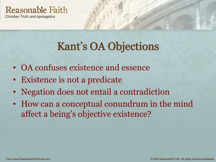 Kant's OA Objections