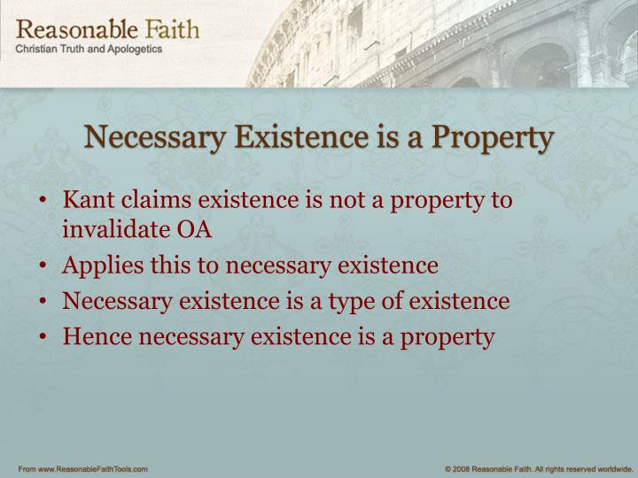 Necessary Existence is a Property