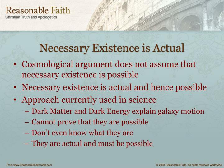 Necessary Existence is Actual