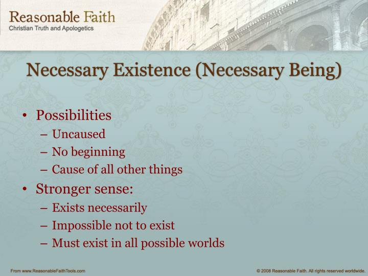Necessary Existence (Necessary Being)
