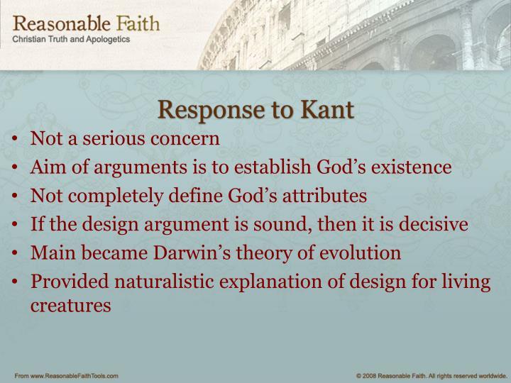 Response to Kant