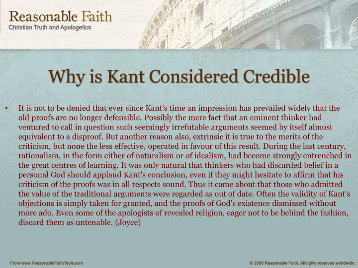 Why is Kant