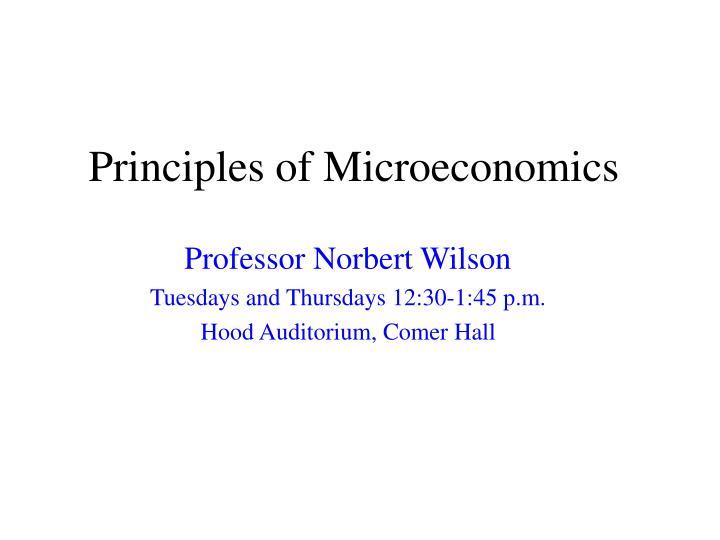 principles of microeconomics n.
