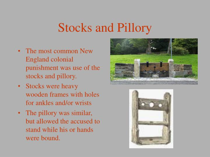 Stocks and Pillory