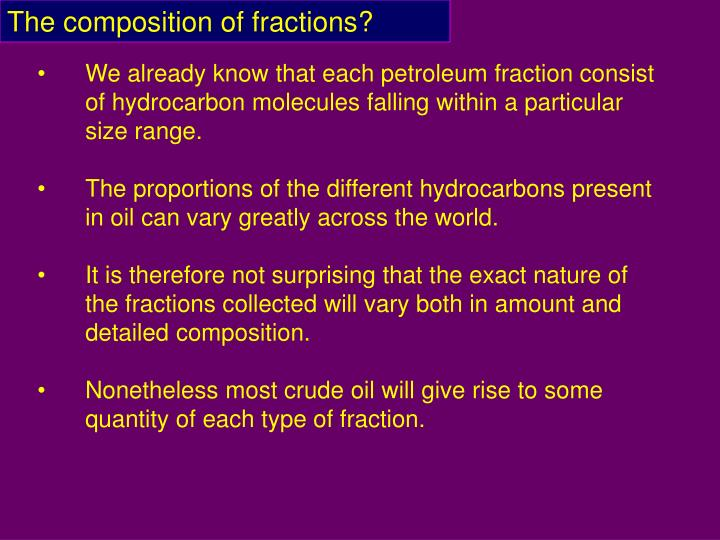 The composition of fractions?