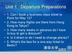 unit 1 departure preparations3