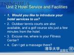 unit 2 hotel service and facilities3