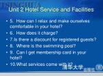 unit 2 hotel service and facilities4