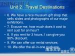 unit 2 travel destinations3