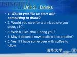 unit 3 drinks2