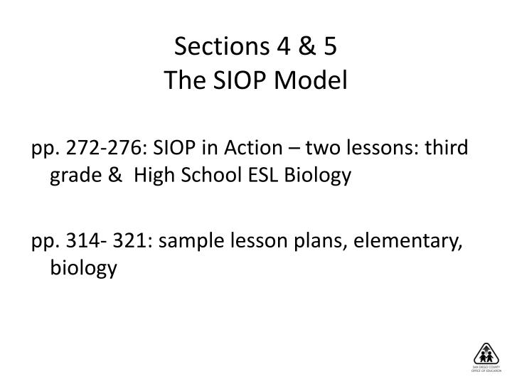 Sections 4 & 5