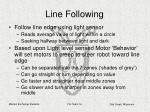 line following