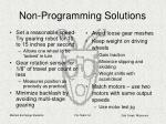 non programming solutions