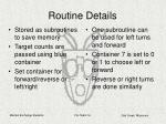 routine details