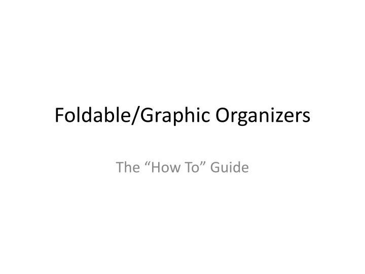 foldable graphic organizers