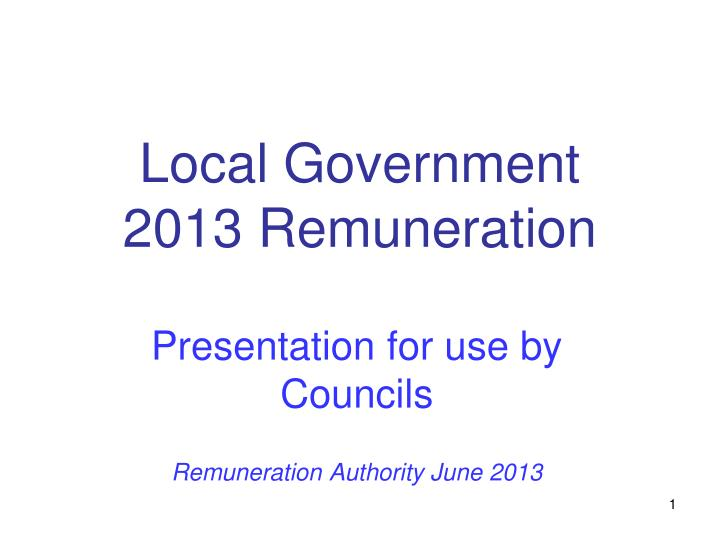 local government 2013 remuneration n.