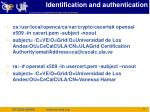 identification and authentication1