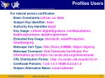 profiles users