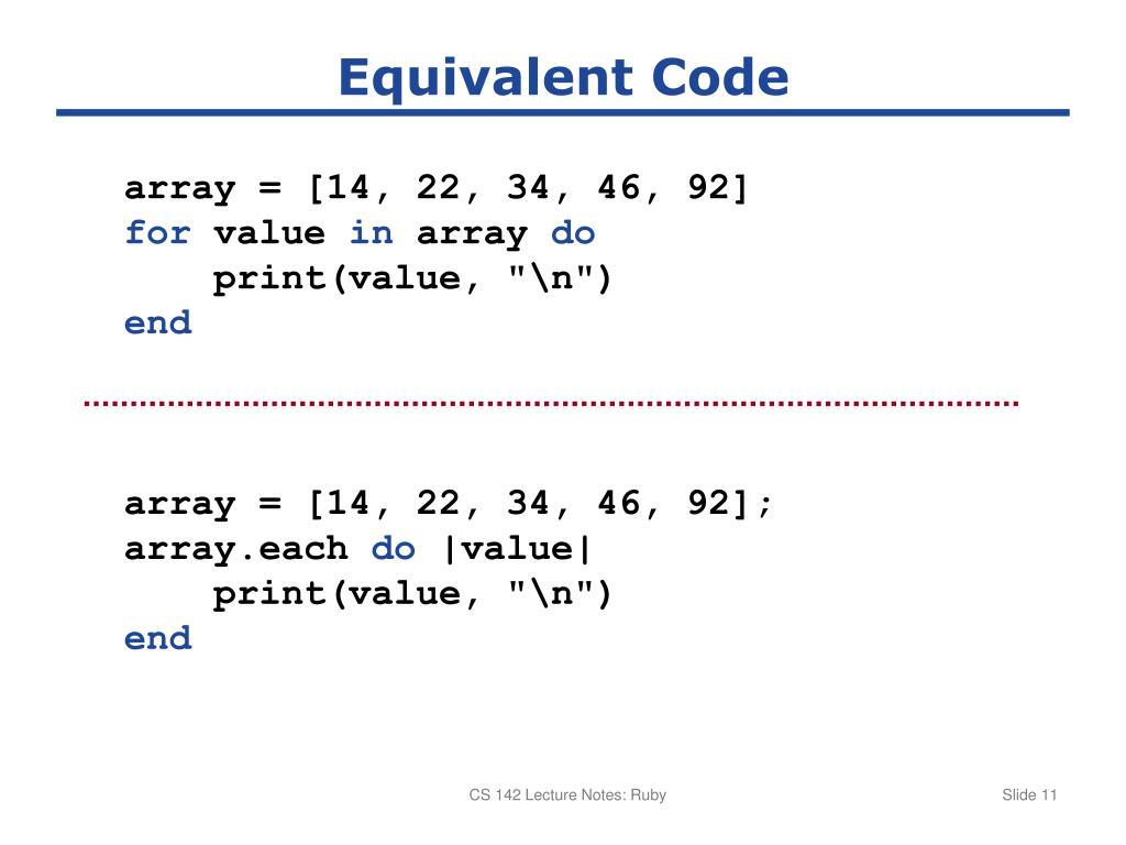 PPT - Basic Ruby Syntax PowerPoint Presentation - ID:1828604