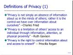 definitions of privacy 1