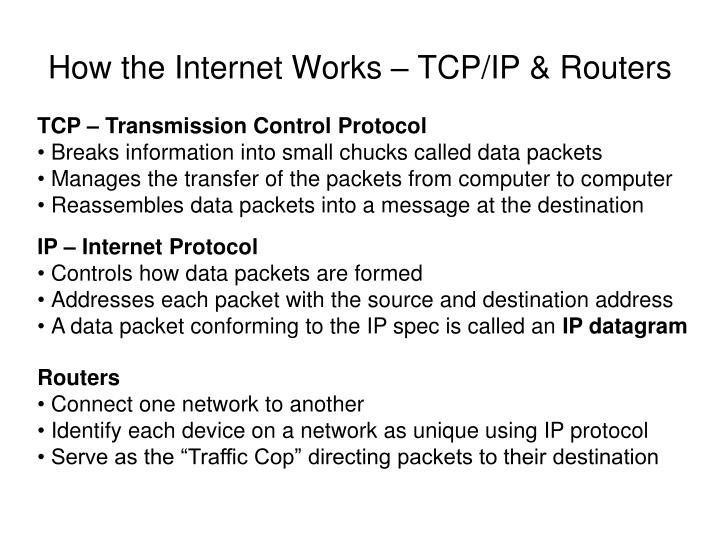 How the Internet Works – TCP/IP & Routers
