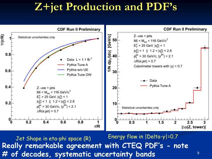 Z+jet Production and PDF's