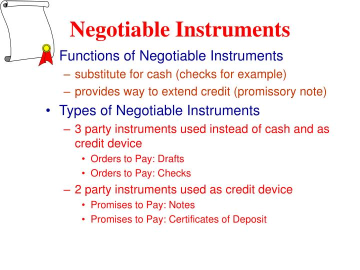 Ppt Negotiable Instruments Credit And Bankruptcy Chapter 12