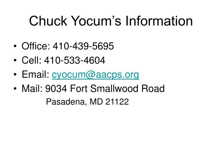 Chuck Yocum's Information