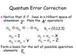quantum error correction7