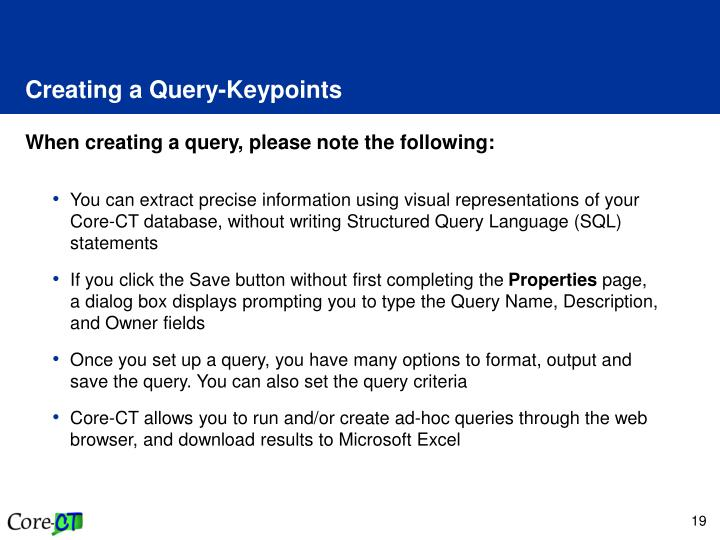 Creating a Query-Keypoints