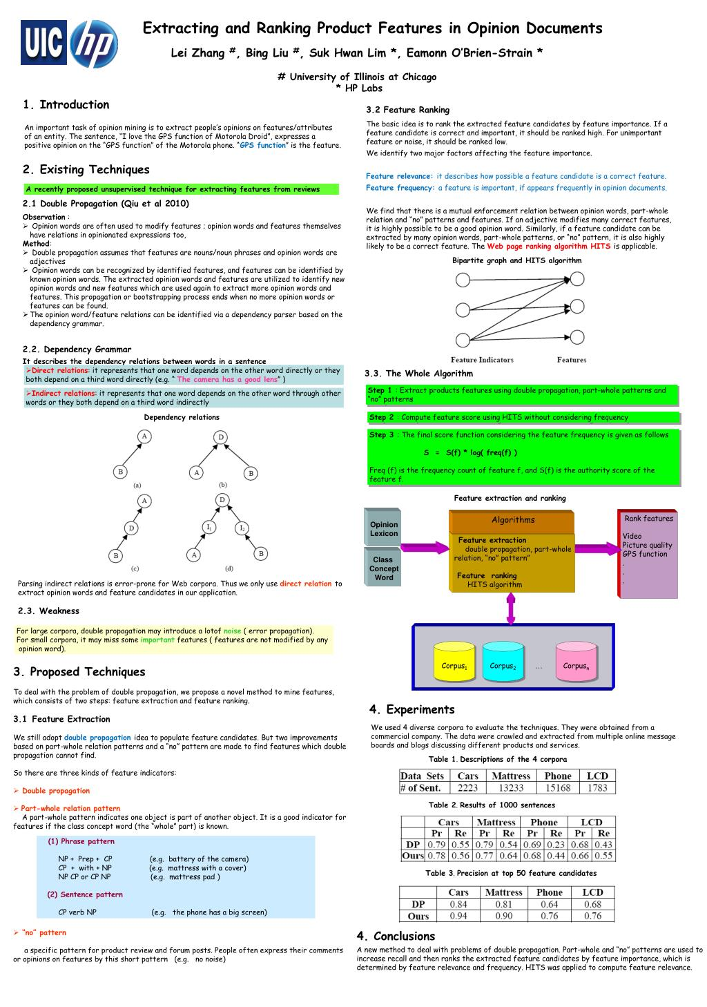 PPT - Extracting and Ranking Product Features in Opinion Documents