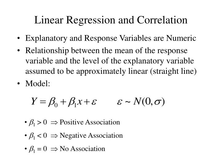 linear regression and correlation n.
