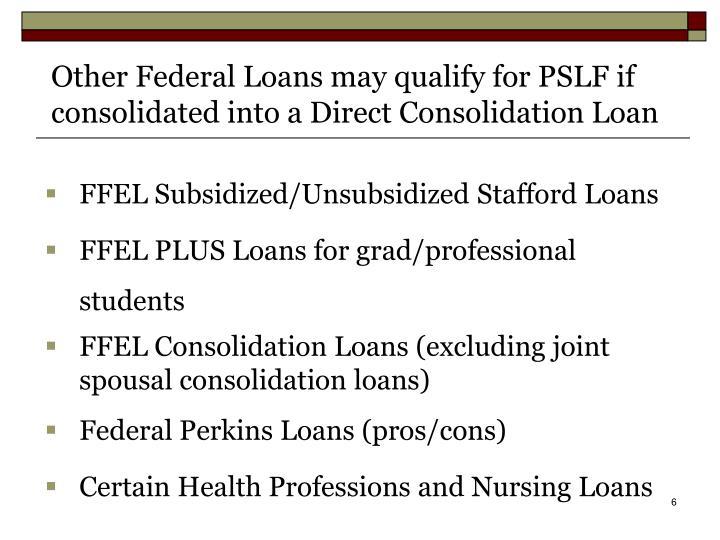 FFEL Subsidized/Unsubsidized Stafford Loans