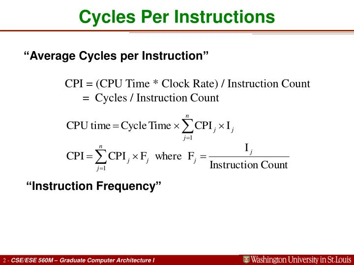 Cycles per instructions