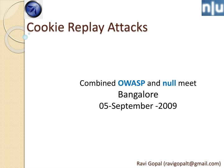 cookie replay attacks n.