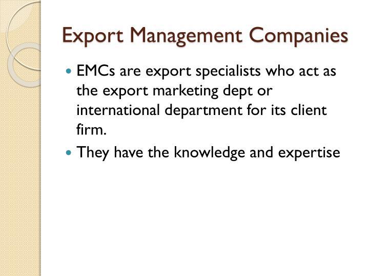 Export Management Companies