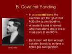 b covalent bonding