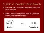 c ionic vs covalent bond polarity