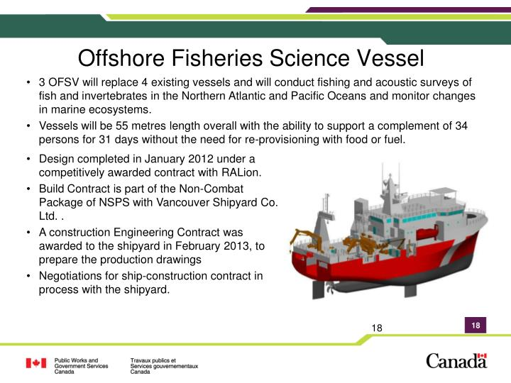 Offshore Fisheries Science Vessel