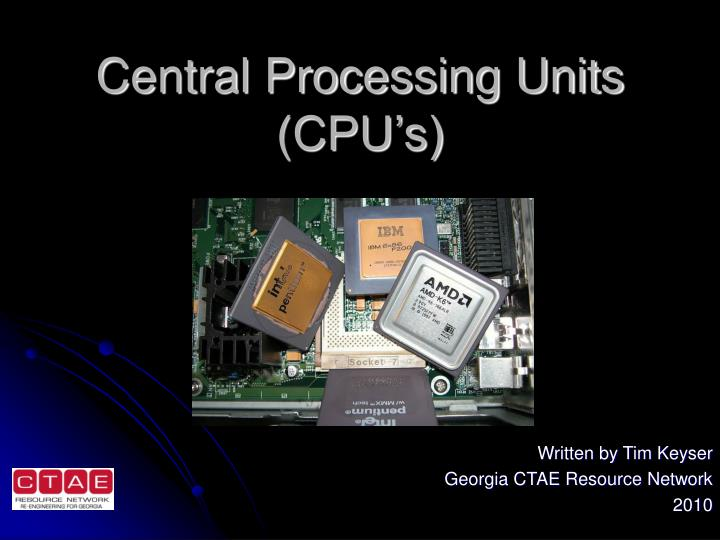 central processing units cpu s n.