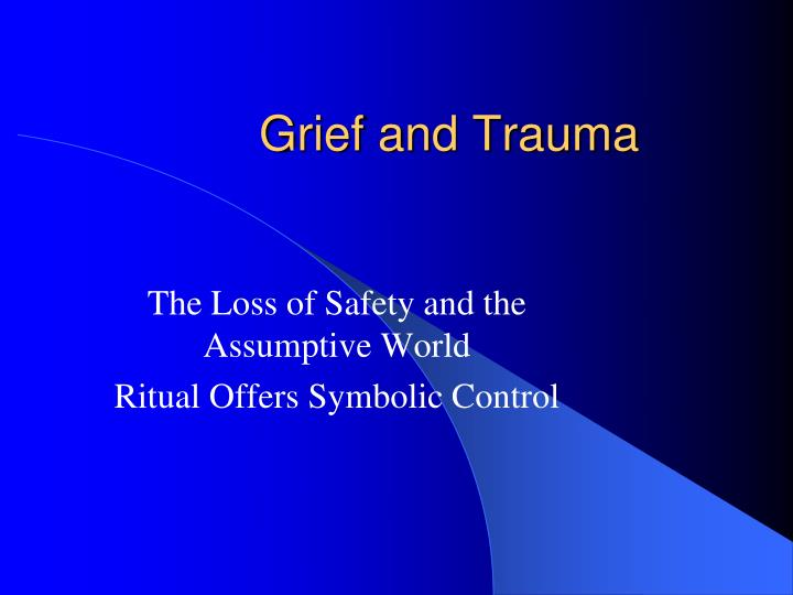 grief and trauma Grief and trauma intervention (gti) for children grief and trauma intervention (gti) for children is designed for children ages 7 to 12 with posttraumatic stress due to witne ssing or being.